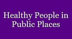 healthy people in public places